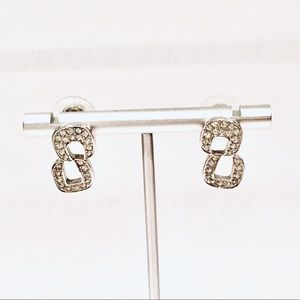 Swarovski Rhodium-plated Crystal Earrings